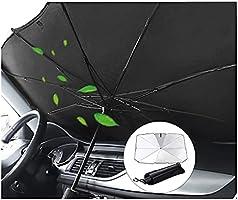 Maybret 車用 サンシェード 車用パラソル 傘 車 フロント サンシェード 日よけ 折りたたみ 遮光 遮熱 放熱効果倍増 uv紫外線カット 車中泊 仮眠 プライバシー保護 暑さ対策 簡単取付 中大型SUV MPV適用 収納ポーチ付き
