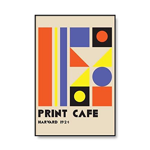 Bauhaus, carteles e impresiones geométricos únicos coloridos, impresiones artísticas minimalistas, cuadros abstractos, pinturas en lienzo sin marco B 30x45cm
