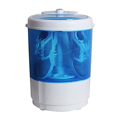 LKNJLL Top Loader Beweglich, Mini Waschmaschine, Quiet Waschmaschine, Rotary-Controller, 110V-für Compact Wäscherei.Durchlässiger Tubs, Blau