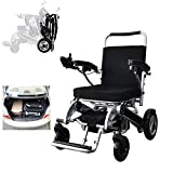GFF - Silla de ruedas eléctrica, plegable, ultraligera y cómoda, con capacidad para 160 kg