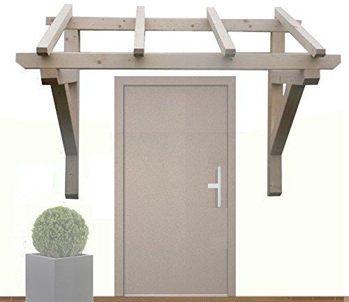 H.A.P PREMIUM Holz Vordach Pultvordach Haustür Tür Überdachung // BREITE: 150cm // TIEFE: Sparren 6 x 6 x 110 cm // Balkenstärke: 9x9 cm // Unbehandelt/NATUR