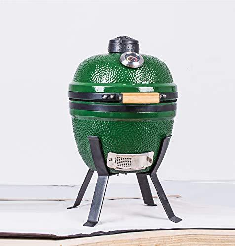 "YNNI KAMADO TQ0014GR 14"" Green Limited Edition Kamado Oven BBQ Grill Egg with Stand TQ0014GR"