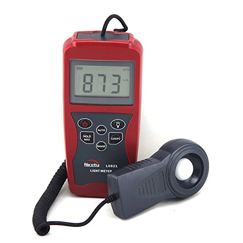Professional Digital Light Meter LX821 for Greenhouse, Hydroponics, Gardening, Architecture, Lighting Audits