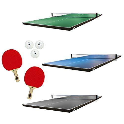 Martin Kilpatrick Ping Pong Table for Billiard Table | Conversion Table Tennis Game Table | Table Tennis Table w/ Warranty | Conversion Top for Pool Table Games | Table Top Games | Ping Pong Table Top, Blue