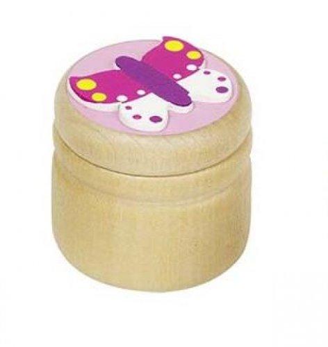 Goki Zahndose aus Holz - Schmetterling