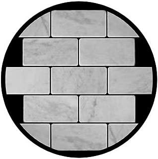 Carrara Marble Italian White Bianco Carrera 3x6 Marble Subway Tile Tumbled