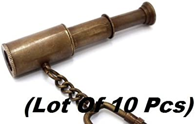 Maritime Buy Cheap Vintage Brass Spyglass Telescope Keyring Pirates Scope Christmas Gift Item For Improving Blood Circulation Maritime Telescopes