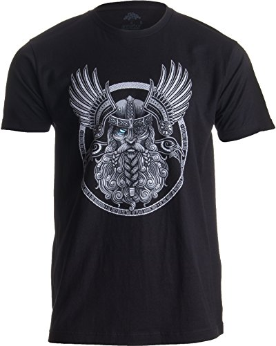 Göttervater Odin & Raben - inspiriert von der nordischen Mythologie & Wikingerzeit Herren T-Shirt - 2XL
