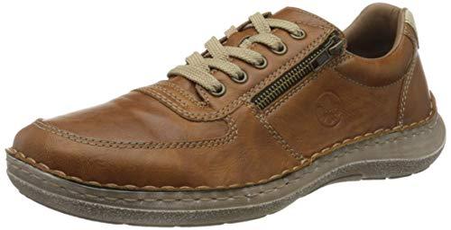 Rieker Frühjahr/Sommer 03030, Zapatos de Cordones Derby Hombre, Marrón (Sherry/Chalk 25), 40 EU