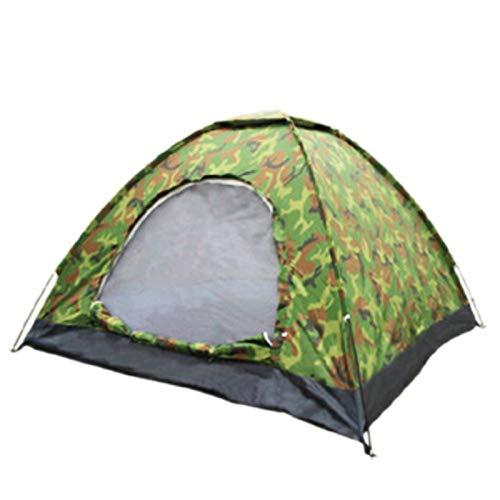 GJJ Einlagiges Doppel-Tarnzelt, 2-Personen-Freizeitzelt, Outdoor-Zelt, Campingzelt,Asphalt,A