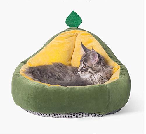 Hondenhok Pet Housecat Bed House Nieuw thermisch zacht katoenen bed, hondenbenodigdheden Luxe katoenen kennelmat Dierbenodigdheden