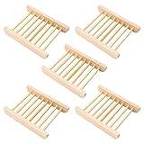 Seifenschale Holz Dusche Handarbeit Seifenhalter Natürliche Bambus Seifenkiste Abnehmbar...