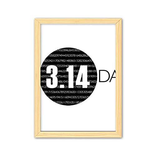 CaoGSH 3.14 Pi Día Aniversario Art Deco Regalo de Moda Decoración de Madera Decoración del Hogar Marco de Fotos A4