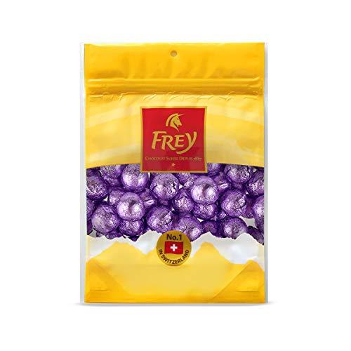 Frey Milk Chocolate Foil Wrapped Balls - Lavender - Party Candy - Premium Chocolate - GMO Free (1lb Bag)