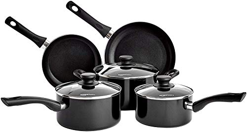 AmazonBasics 5-Piece Non Stick Induction Pan Set