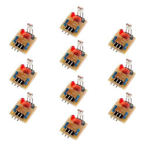 Wishiot 5 V Laserempfänger-Erkennungs-Sensor-Modul ohne Modulatorröhre für Arduino Raspberry Pi (10 Stück)