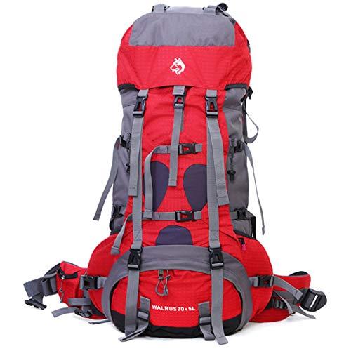 Sac en Plein air Alpinisme 70 +5 L Camping Voyage Professionnel EscalaSac à Dos en Nylon imperméable Alpinisme Red Color Other