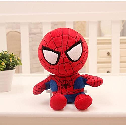 Avengers Puppe Plüschtier, Marvel Batman Captain America Puppe, Spiderman Stoffpuppe, Plüschkissen für Jungen Bett, Geburtstagsgeschenk Spiderman 45cm