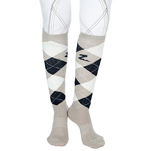 Horze Holly Argyle Socken, Kniestrümpfe Reitsocken- Gr.36-38, Koriander(STG)