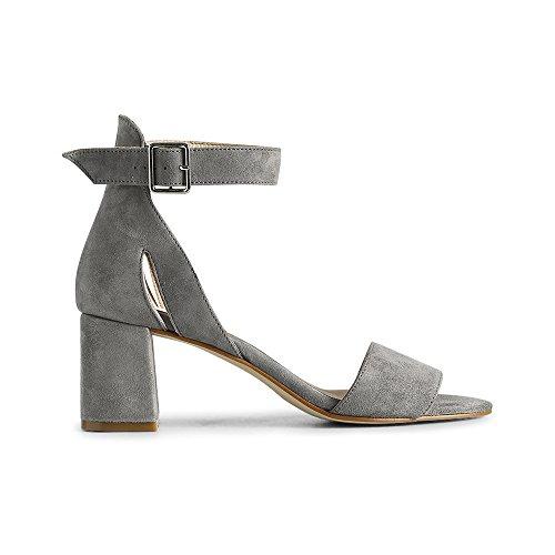 Shoe the Bear May S, Sandales Bout Ouvert Femme, Gris (Grey), 39 EU
