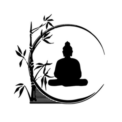 Garneck Buda Pegatinas de Pared de Bambú Budista Cita de La Pared Tatuajes Bodhisattva Arte Proverbios Decoración Pegatina para Yoga Sala de Meditación Dormitorio