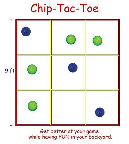 Chip Tac Toe, A Back Yard Golf Game, Chipping and Putting. The Rules are Simple, The Competition is Fierce. (Net Only)
