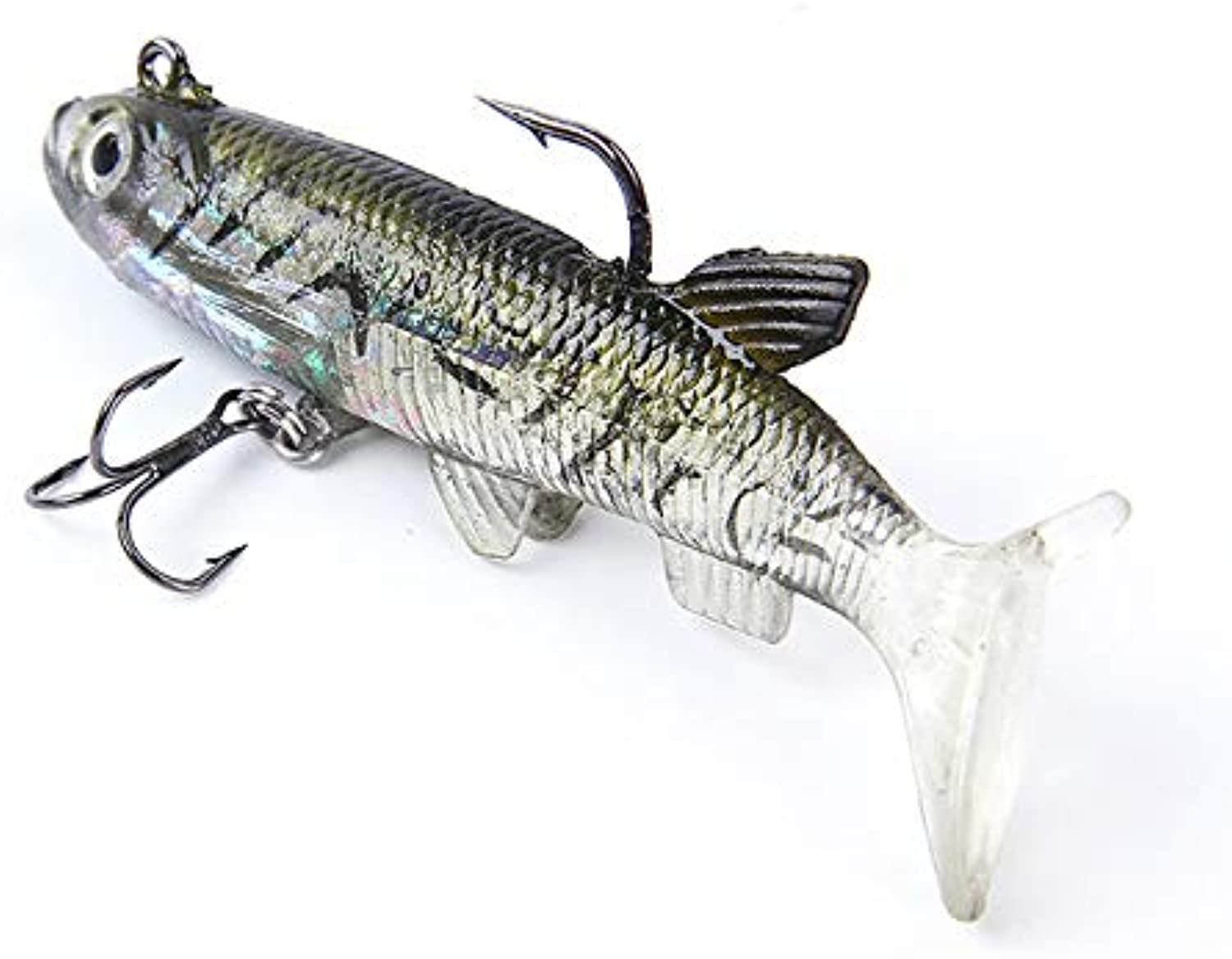 Fish King 5pcs 6 8 10cm Soft s Head Jig Fishing Lure 3D Eyes T Plastic Pike Lure Fishing Tackle 5565   042, 8cm 5PCS