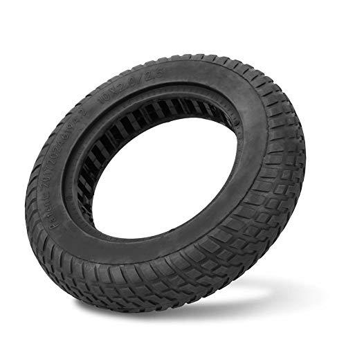 VGEBY1 Roller Reifen, 10 Zoll explosionsgeschützter schlauchloser Vollreifen für Elektroroller(Schwarz)