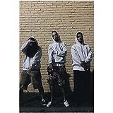 Nueva música rap, grupo de hip hop, estrellas, cantante, gira, póster, lienzo artístico, decoración de la pared de la habitación del hogar (50X75Cm) -20x30 pulgadas sin marco