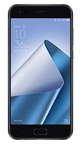 Asus ZenFone 4 ZE554KL Dual-SIM Smartphone (13,97 cm (5,5 Zoll) Bildschirm, 4 GB RAM, 64 GB Speicher, Android 7.1.1) schwarz