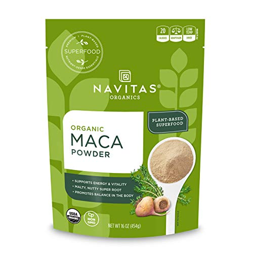 Navitas Organics Maca Powder, 16 oz. Bag, 90 Servings — Organic, Non-GMO, Low Temp-Dried, Gluten-Free