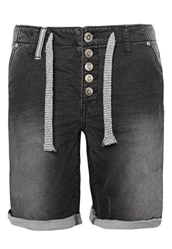 Eight2Nine Damen Boyfriend Bermuda Shorts in Denim-Optik Black XL