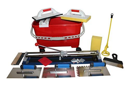 Grosses Fliesenwaschset + Werkzeuge und Fliesenschneider 600 mm