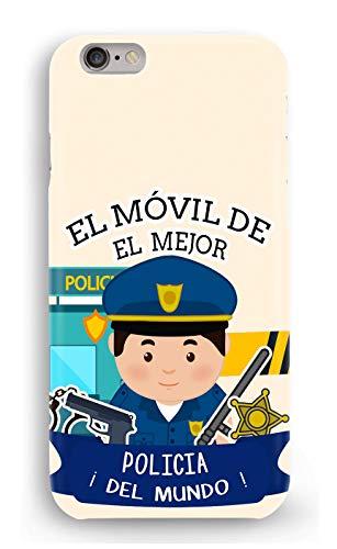 Funda Carcasa policia para iPhone 7 Plus 7PLUS plástico rígido