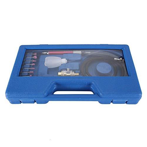 Amoladora de matriz neumática, amoladora de matriz de ángulo de aire de 19 piezas, herramienta de pulido y grabado, máquina de pulido neumática 54000 rpm