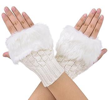 white fuzzy mittens