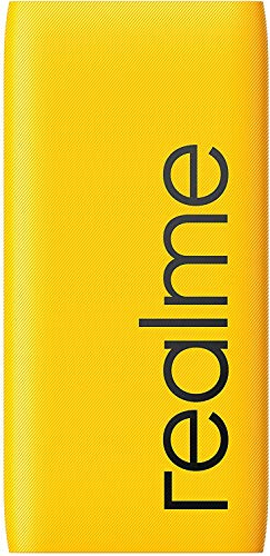 realme Power Bank 10000mAh PD 18W Portable Charger,Ultra-Mini External Battery with USB C 18W Power Delivery Compatible for realme iPhone iPad Samsung HUAWEI Xiaomi and more-Yellow(RMA138)