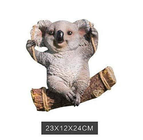 SD&EY Leuke harssimulatie koala, panda, decoratie, dierenfiguur, ALS, werft, tuin, ornament A