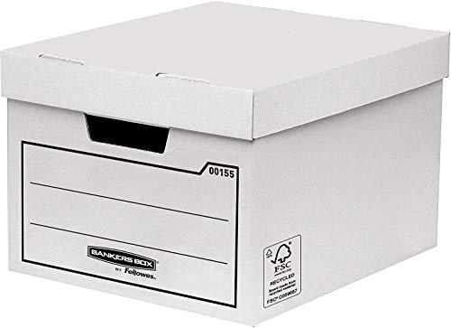Bankers Box 00155, Caja de almacenamiento, Blanco, pack de 10 unidades