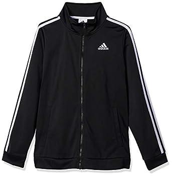 adidas Boys  Zip Front Iconic Tricot Jacket Black ADI X-Large