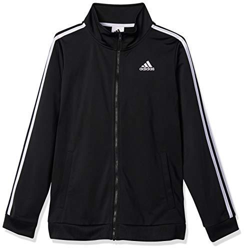 adidas Boys' Tricot Active Track Warm-Up Jacket, Black ADI, Large