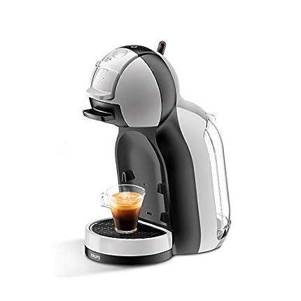 Nescafé Dolce Gusto Mini Me S KP123B Krups Cafetera de cápsulas con 15 bares de presión, capacidad 0.8 L, bebidas frías o calientes, modo Eco, Play&Select, Thermoblock, 35 tipos café, color gris/negro