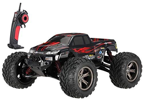 MODELTRONIC Coche Radio Control teledirigido Monster Truggy Escala 1 12 9115 9116 Eléctrico 2.4G   Velocidad de 40km h   Batería Recargable   Coche RC XINLEHONG (Monster Rojo 9115)