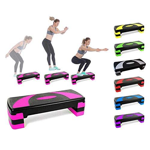 LHY Kitchen Pasos aeróbicos de Fitness Steppers de Altura Ajustable Cardio Ejercicio Steppers para Gimnasio en casa Rutinas de Entrenamiento Entrenamiento,Rojo