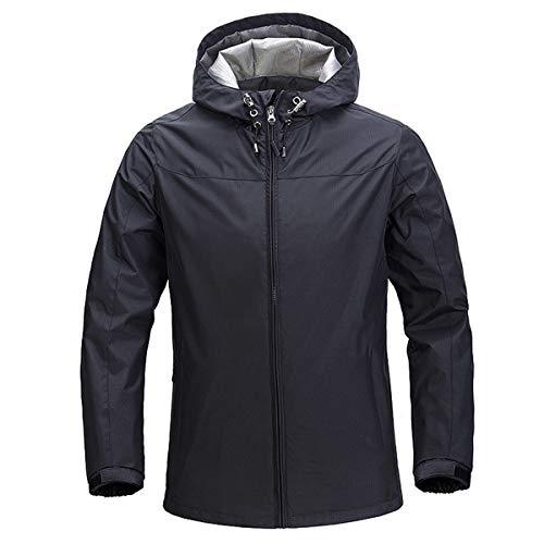YOUTHUP Chaqueta impermeable con capucha para hombre militar al aire libre parka cortavientos casual abrigo impermeable