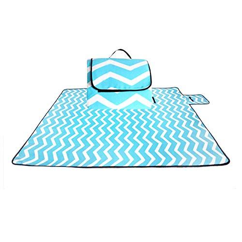 Coperta Da Picnic,Luce Blu Outdoor Moistureproof Beach Blanket Tappettino Ripiegabile Camping Mat Pad Tappetino Picnic Pad Coperta Piscina Baby Coperta Ridotta Pad,130 * 170Cm