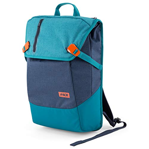 AEVOR Daypack - erweiterbarer Rucksack, ergonomisch, Laptopfach, wasserabweisend - Bichrome Bay - Blau