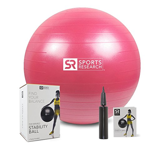 Sports Research Medicine Ball (12lb) | Helps Develop core Strength & Balance
