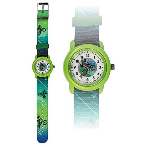 bbKlostermann - Reloj infantil, diseño de bicicleta, color verde