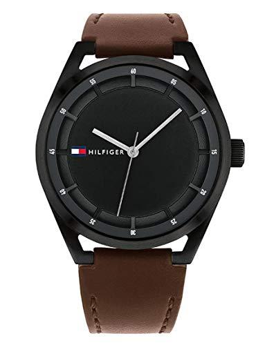 Tommy Hilfiger Herren Analog Quarz Uhr mit Edelstahl Armband 1791771
